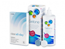 Clear All-Day (6 linser) + Gelone Linsevæske 360 ml
