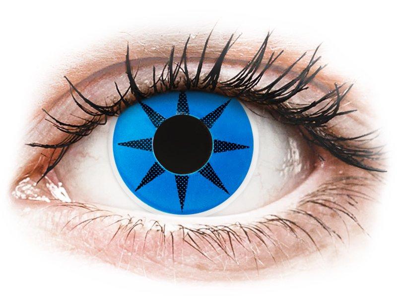 ColourVUE Crazy Lens - Blue Star - uden styrke (2 linser)