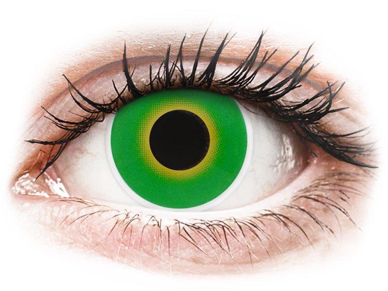 ColourVUE Crazy Lens - Hulk Green - uden styrke (2 linser)