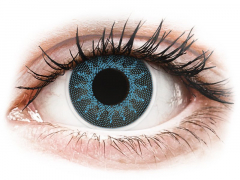 ColourVUE Crazy Lens - Solar Blue - med styrke (2 linser)