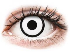 ColourVUE Crazy Lens - White Zombie - med styrke (2 linser)