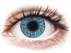 FreshLook Colors Sapphire Blue - med styrke (2 linser)