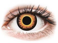 ColourVUE Crazy Lens - Orange Werewolf - endagslinser uden styrke (2 linser)