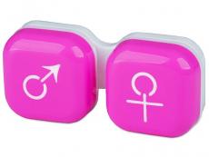 """Etui """"Mand og Kvinde"""" - lyserød"""