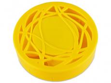Spejlæske med etui - gult ornament