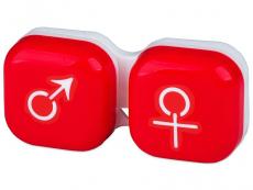 """Etui """"Mand og Kvinde"""" - rød"""