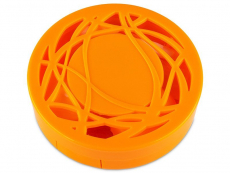 Spejlæske med etui - orange ornament