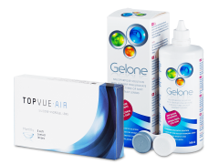 TopVue Air (6 linser) + Gelone Linsevæske 360 ml