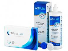 TopVue Air (6 linser) + AQ Pure Linsevæske 360 ml