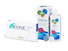 Acuvue 2 (6 linser) + Gelone Linsevæske 360 ml
