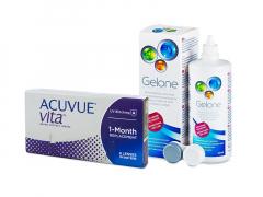 Acuvue Vita (6 linser) + Gelone Linsevæske 360 ml
