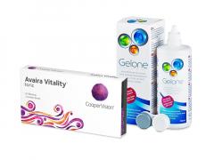 Avaira Vitality Toric (3 linser) + Gelone Linsevæske 360 ml