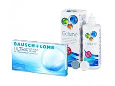 Bausch + Lomb ULTRA (3 linser) + Gelone Linsevæske 360 ml