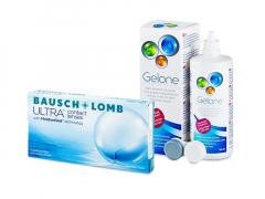 Bausch + Lomb ULTRA (6 linser) + Gelone Linsevæske 360 ml