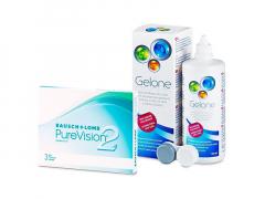 PureVision 2 (3 linser) + Gelone Linsevæske 360 ml