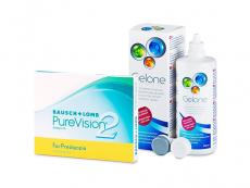 PureVision 2 for Presbyopia (3 linser) + Gelone Linsevæske 360 ml
