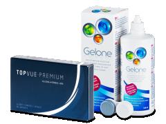 TopVue Premium (6 linser) + linsevæske Gelone 360 ml