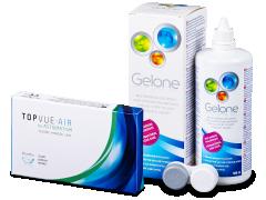 TopVue Air for Astigmatism (3linser) + linsevæske Gelone 360 ml