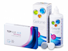 TopVue Air Multifocal (3 linser) + Gelone Linsevæske 360 ml