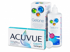 Acuvue Oasys with Transitions (6 linser) + Gelone linsevæske 360 ml