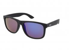 Solbriller Alensa Sport All Black Blue Mirror