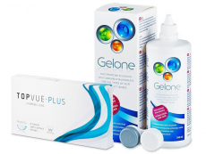 TopVue Monthly Plus (6 linser) + Gelone Linsevæske 360 ml