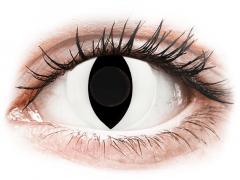 CRAZY LENS - Cat Eye White - endagslinser uden styrke (2 linser)