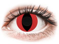CRAZY LENS - Cat Eye Red - endagslinser uden styrke (2 linser)