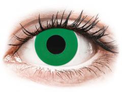 CRAZY LENS - Emerald Green - endagslinser med styrke (2 linser)
