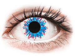 CRAZY LENS - Harlequin - endagslinser med styrke (2 linser)