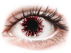 CRAZY LENS - Harlequin Black - endagslinser med styrke (2 linser)