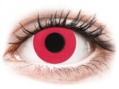 CRAZY LENS - Solid Red - endagslinser med styrke (2 linser)