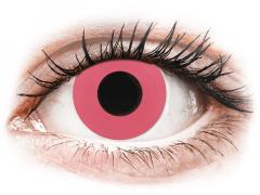 CRAZY LENS - Solid Rose - endagslinser med styrke (2 linser)