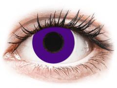 CRAZY LENS - Solid Violet - endagslinser med styrke (2 linser)
