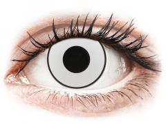 CRAZY LENS - White Black - endagslinser uden styrke (2 linser)