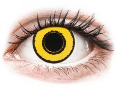 CRAZY LENS - Yellow Twilight - endagslinser med styrke (2 linser)