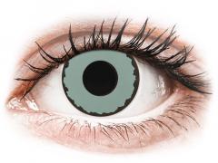 CRAZY LENS - Zombie Virus - endagslinser uden styrke (2 linser)