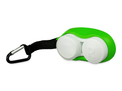 Linseetui med karabinhage - grøn