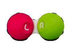 Etui til kontaktlinser - Pink & green