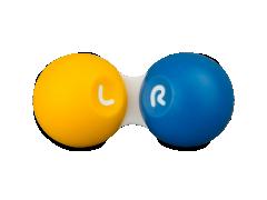 Etui til kontaktlinser - yellow & blue
