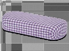 Brilleetui - Rooster purple & white
